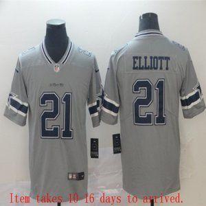 Cowboys #21 Ezekiel Elliott Jersey Inverted